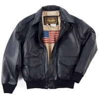 ihocon: LANDING LEATHERS MEN'S AIR FORCE A-2 LEATHER FLIGHT BOMBER JACKET