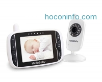 ihocon: HelloBaby 3.2 Inch Video Baby Monitor with Night Vision & Temperature Sensor, Two Way Talkback System