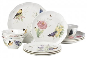 ihocon: Lenox 883319 Butterfly Meadow Bread-Plates, 12-piece 餐盤組