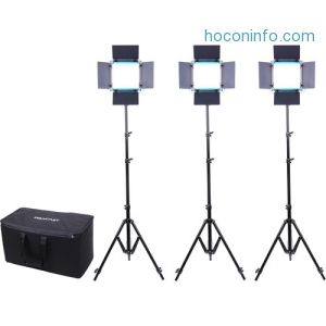 ihocon: Dracast LED500 S-Series Bi-Color 3-Light Kit with V-Mount Battery Plates and Soft Case 攝影燈組