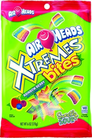 ihocon: AirHeads Xtremes Bites Rainbow Berry Peg Bag, Party, Halloween, 6 Ounce (Pack of 12)       ,派對,萬聖節,6盎司(12件裝)