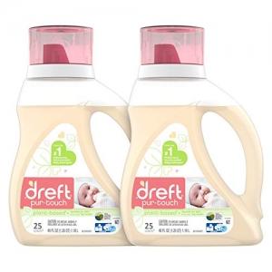 ihocon: Dreft Purtouch Baby Liquid Laundry Detergent, Infant or Newborn, 80 oz (2 Pack, 40 oz Each)嬰兒洗衣精