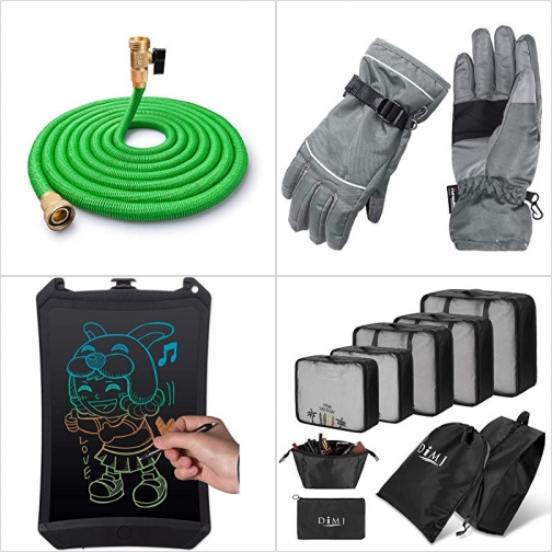 [Amazon折扣碼] 伸縮澆花水管, 男士防水手套, LCD手寫/繪圖板, 旅行衣物收納袋 額外折扣!