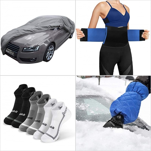 [Amazon折扣碼] 汽車防水防塵保護罩, 護腰/束腰帶, 男襪/女襪, 保暖車窗刮雪器 額外折扣!
