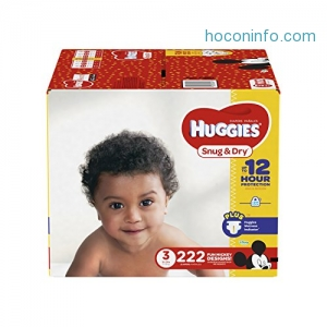 ihocon: HUGGIES Snug & Dry Diapers, Size 3, for 16-28 lbs., One Month Supply (222 Count) of Baby Diapers, Packaging May Vary