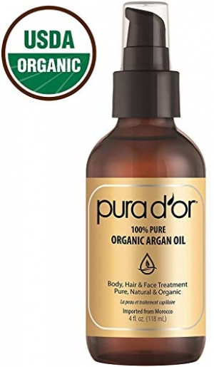 ihocon: PURA D'OR (4 oz) Organic Moroccan Argan Oil 100% Pure Cold Pressed, USDA Certified Organic冷壓有機摩洛哥堅果油