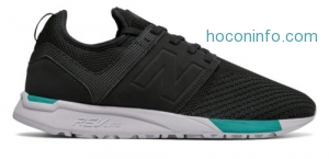 ihocon: New Balance Men's 247 Sport Shoes Black with Blue