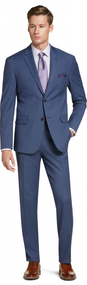 ihocon: Jos. A. Bank Men's 1905 Collection Tailored Fit Suit (Bright Blue or Tan) 男士西服
