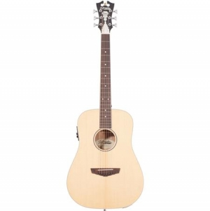 ihocon: D'Angelico Guitars Premier Niagara Mini Dreadnought Body Acoustic-Electric Guitar with Onboard Preamp and Tuner, 20 Frets, C-Shape Neck, Ovangkol Fingerboard, Natural Spruce