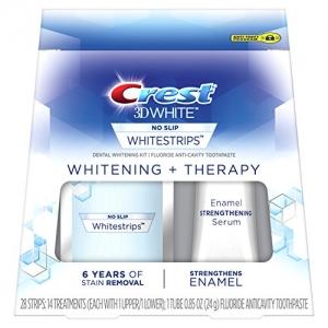 ihocon: Crest 3D White Whitestrips Whitening + Therapy Teeth Whitening Kit, 14 Treatments