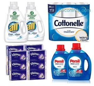 Amazon: 買衛生紙, 洗衣精, 洗髮乳…家用品$10 off $50