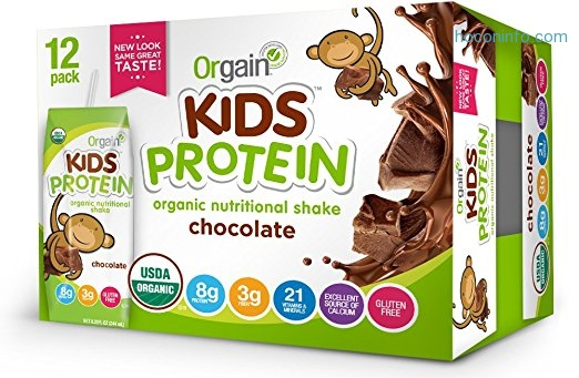ihocon: Orgain Kids Protein Organic Nutritional Shake, Chocolate, 8.25 Ounce, 12 Count