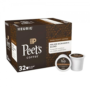 ihocon: Peet's Coffee K-Cup Packs Major Dickason's Blend, Dark Roast Coffee, 32 Count咖啡膠囊