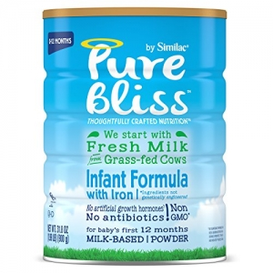 ihocon: Pure Bliss by Similac Infant Formula, Starts with Fresh Milk from Grass-Fed Cows, Baby Formula, 31.8 ounces, 4 Count 嬰兒奶粉
