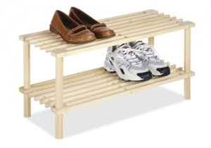 ihocon: Whitmor 2 Tier Wood Household Shelves  雙層木製鞋架