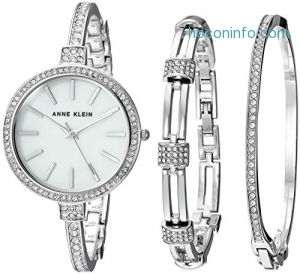 ihocon: Anne Klein Women's Swarovski Crystal Accented Watch and Bangle Set