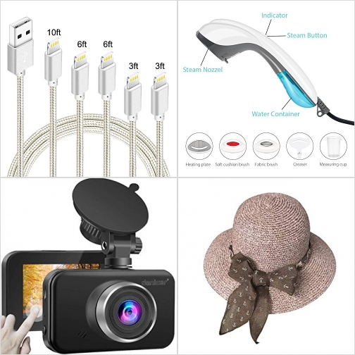 [Amazon折扣碼] iPhone 充電線, 手持蒸氣熨斗, 行車記錄器, 遮陽女帽 額外折扣!