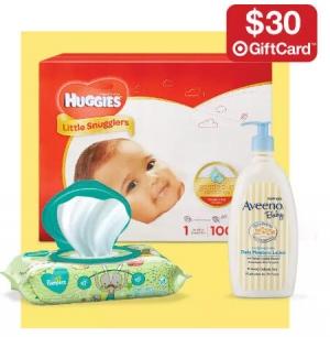 Target: 嬰兒用品買$100送$30 gift card