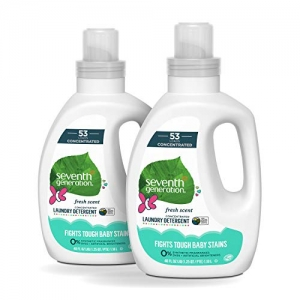 ihocon: Seventh Generation Baby Concentrated Laundry Detergent, Fresh Scent, 40 oz, 2 Pack (106 Loads)  嬰兒濃縮洗衣精