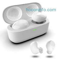ihocon: MJYun Wireless Bluetooth Noise Cancelling Stereo Earbuds Headphones (White)真無線消噪立體聲耳機