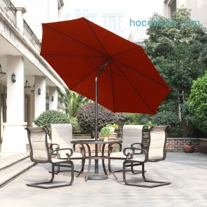 ihocon: Grand patio Outdoor Table Umbrella with Push Button Tilt and Crank, 9.6 Ft - 3色可選