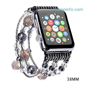Apple Watch 錶帶 Replacement Beaded Bracelet $7.99(原價$15.99)