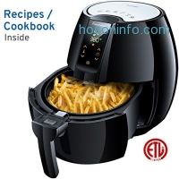 ihocon: FrenchMay 3.7Qt Air Fryer, 1500W 氣炸鍋