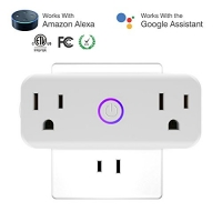 ihocon: [不在家也能遙控電器]isuke Dual Socket Outlets Compatible with Amazon Alexa 智能雙插座