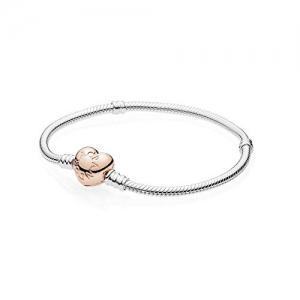 ihocon: Sterling Silver Bracelet w/PANDORA Rose Heart Clasp 580719純銀手鍊