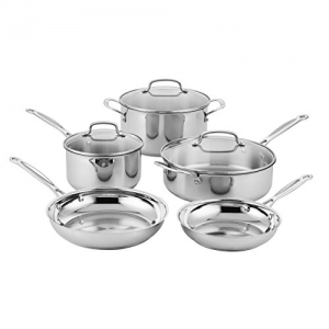 ihocon: Cuisinart Classic Stainless Steel Cookware Set (8-Piece)不銹鋼鍋組
