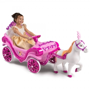 ihocon: Disney Princess Girls Royal Horse and Carriage Girls Ride-On Toy迪士尼公主電動馬車