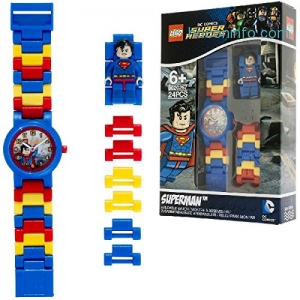 ihocon: LEGO DC Comics 8020257 Super Heroes Superman Kids Minifigure Link Watch樂高超人童錶