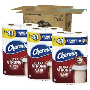 ihocon: Charmin Ultra Strong 5x廁所衛生紙 Toilet Paper, Family Mega Roll 24捲
