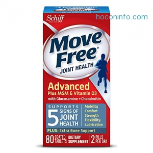 ihocon: Move Free Advanced Plus MSM and Vitamin D3, 80 tablets - Joint Health Supplement with Glucosamine and Chondroitin