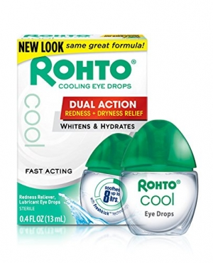 ihocon: Rohto Cool The Original Cooling Redness Relief Eye Drops, 0.4 Ounce, 3 Count
