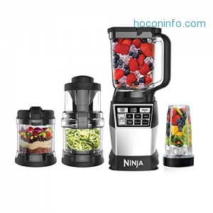 ihocon: Ninja 4-in-1 Kitchen System, Blending, Processing & Spiralizing (AMZ012BL)
