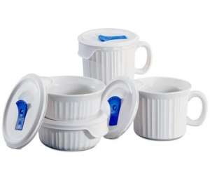 ihocon: Corningware康寧 French White 8-Pc. Mug Set