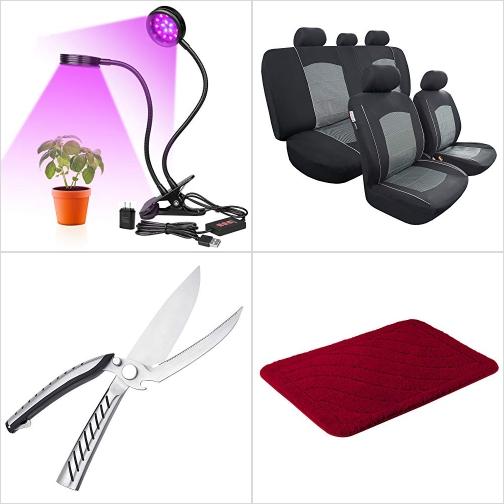 [Amazon折扣碼] LED植物生長燈, 汽車椅套, 廚用剪刀, 浴室地墊 額外折扣!