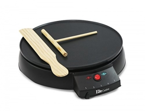 ihocon: Elite Cuisine ECP-126 Electric Crepe Maker and Non-stick Griddle with Spreader, Spatula and Recipes, 12 可麗餅機