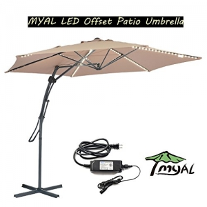 ihocon: MYAL 9.8ft Patio Umbrella with 180 LED Light遮陽大傘