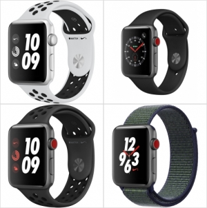 ihocon: AppleWatch Series3 (GPS+Cellular, 42mm) - Space Gray Aluminium Case with Black Sport Band    3( + ,42) - 帶黑色運動帶的太空灰色鋁合金錶殼