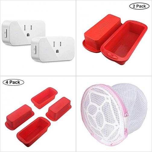 [Amazon折扣碼] 智能插座, 矽膠蛋糕模, 內衣/小物洗衣袋 額外折扣!