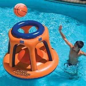 ihocon: Swimline Giant Shootball Basketball Swimming Pool Game Toy 游泳充氣投球遊戲組
