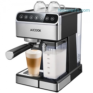 ihocon: Aicook 15 BAR Pump Automatic Espresso Machine義式濃縮咖啡機