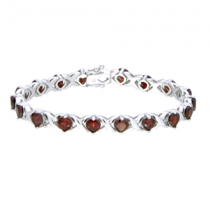 ihocon: Garnet Bracelet (6.50 CT) In Rhodium Plated 6.5克拉石榴石手鍊