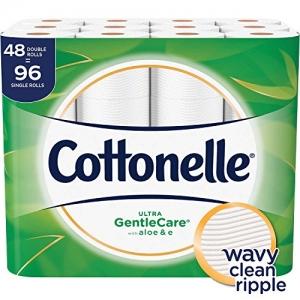 ihocon: Cottonelle Ultra GentleCare Toilet Paper, 48 Double Rolls, Sensitive Bath Tissue with Aloe & Vitamin E 廁所衛生紙