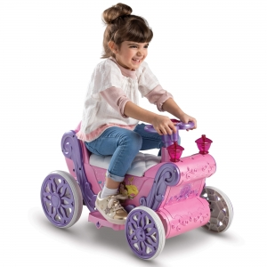 ihocon: Disney Princess Girls' 6V Ride-On Toy Pink by Huffy 迪士尼公主電動車
