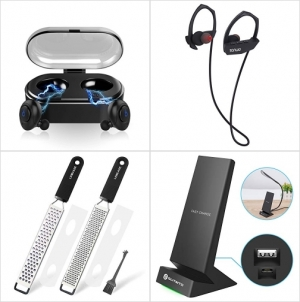 [Amazon折扣碼] 真無線耳機, 藍芽無線耳機, 研磨器, 快速無線充電板 額外折扣!