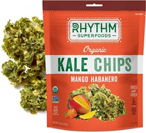 ihocon: Rhythm Superfoods Kale Chips, Mango Habanero, Organic and Non-GMO, 2 Oz (Pack of 4), Vegan/Gluten-Free Superfood Snacks  羽衣甘藍脆片