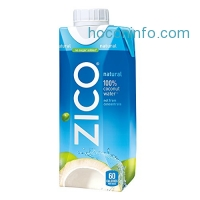 ihocon: ZICO Premium Coconut Water, Natural, 11.2 fl oz (Pack of 12)椰子水